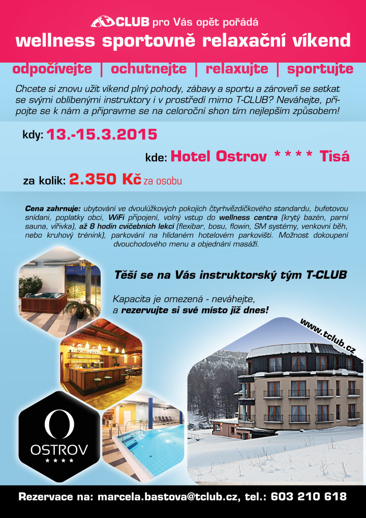 wellness vikend ostrov T-CLUB